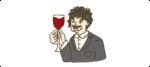 ワインを飲む人