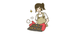 クッキーを焼く人